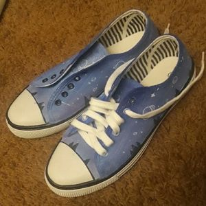 Custom hand painted art sneakers size 9